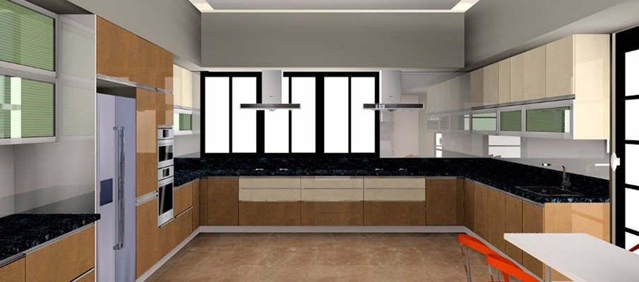 Modular kitchen in satellite